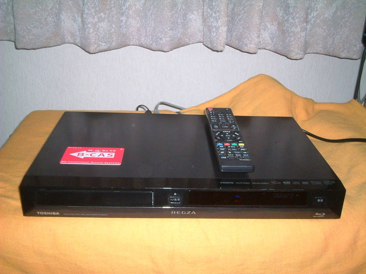 1ヶ月保証 東芝レグザ D-BZ510  HDD/DVD/ ブルーレイ/レコーダー 2番組同時録画  新品リモコン B-CASカード付き_画像1
