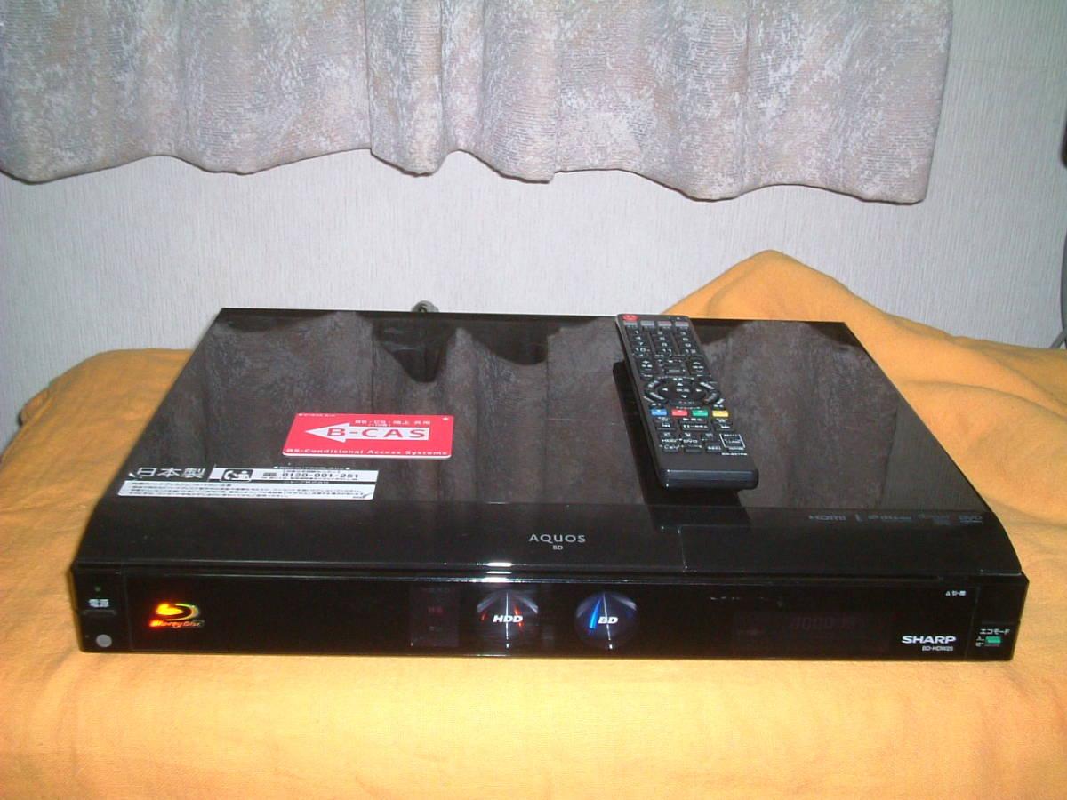 1ヶ月保証 シャープ BD-HDW22  HDD/DVD/ブルーレイ/ レコーダー 2番組同時録画  新品リモコン  B-CASカード付 _画像1