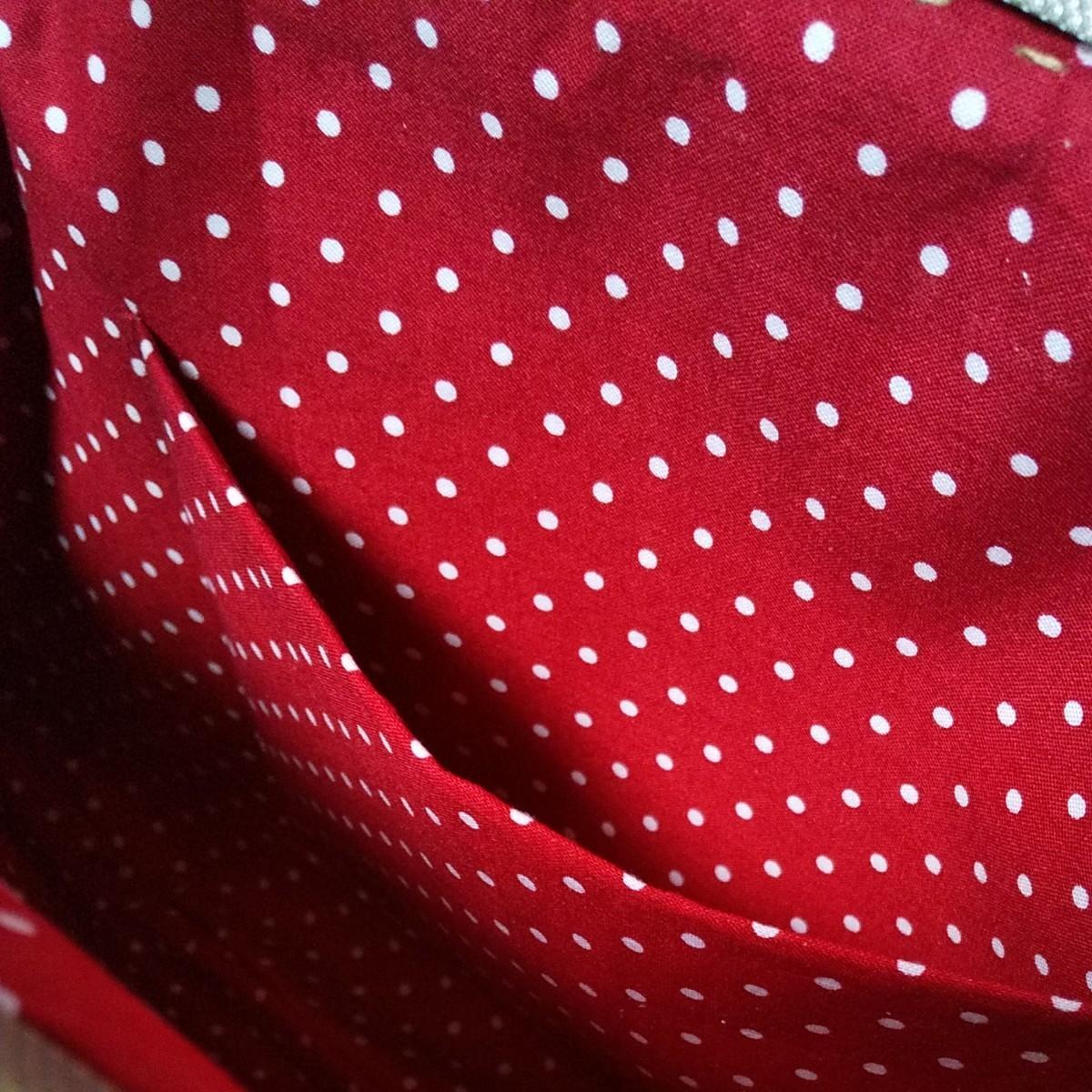 ハンドメイド 岡山デニムビッグがま口バッグとポーチ、がま口財布