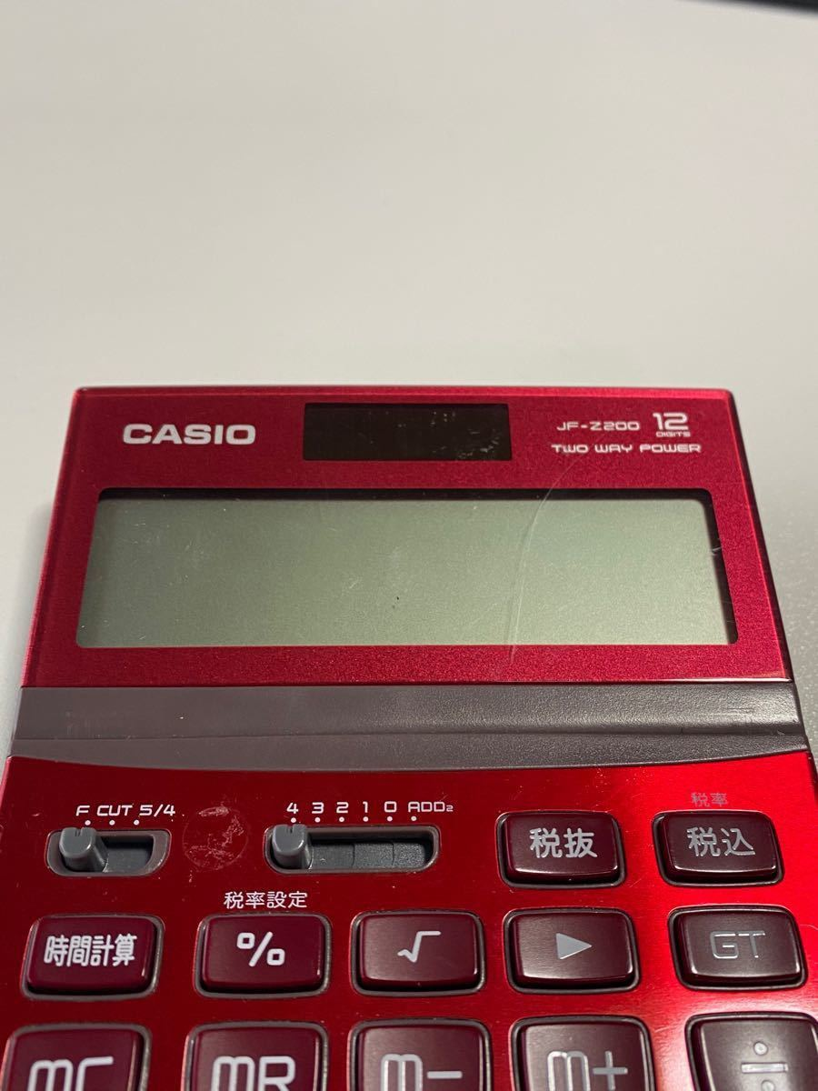 CASIO スタイリッシュ電卓 JF-Z200  生産終了品