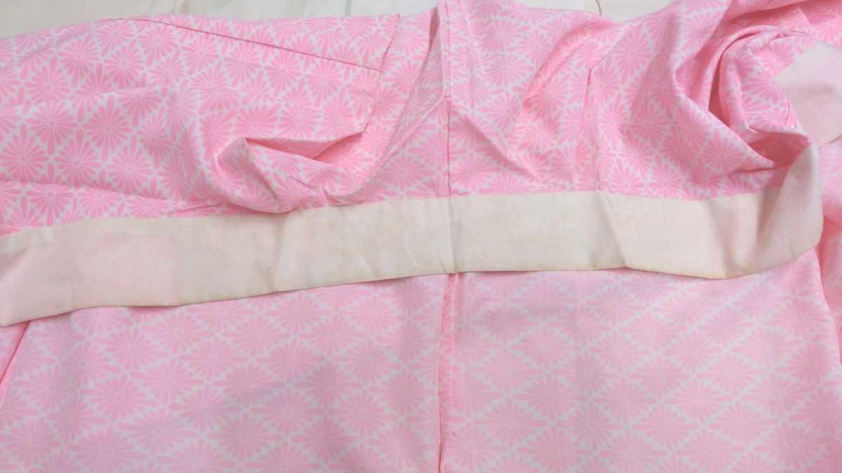 女性着物羽織 絹 紬 身丈118cm 袖丈49cm アンティーク 年代物 和服 振袖用長襦袢 単衣 長襦袢 即入札可 3_画像8