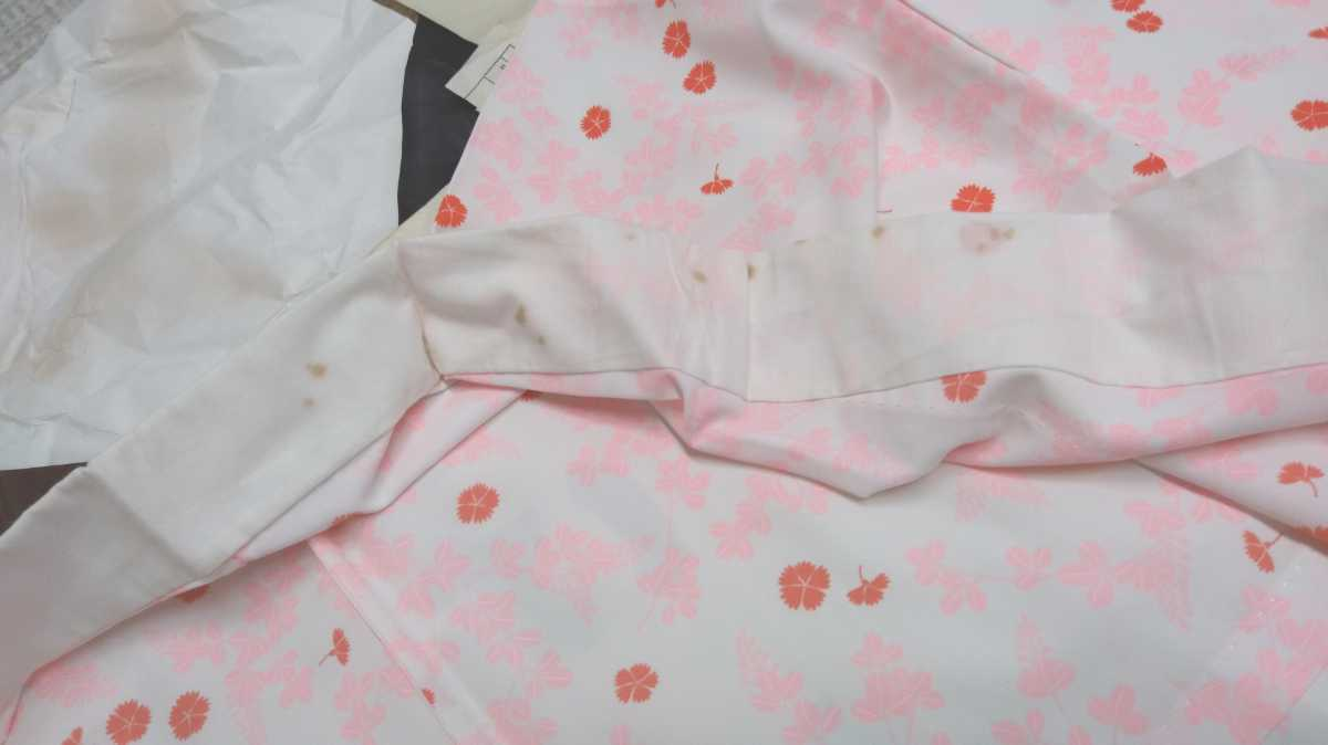 女性着物羽織 絹 紬 身丈118cm 袖丈49cm アンティーク 年代物 和服 振袖用長襦袢 単衣 長襦袢 即入札可 3_画像3