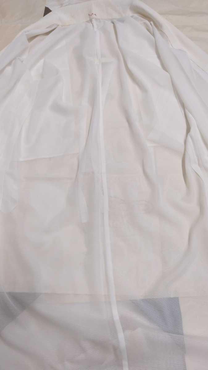 女性着物羽織 絹 紬 身丈118cm 袖丈49cm アンティーク 年代物 和服 振袖用長襦袢 単衣 長襦袢 即入札可 3_画像4