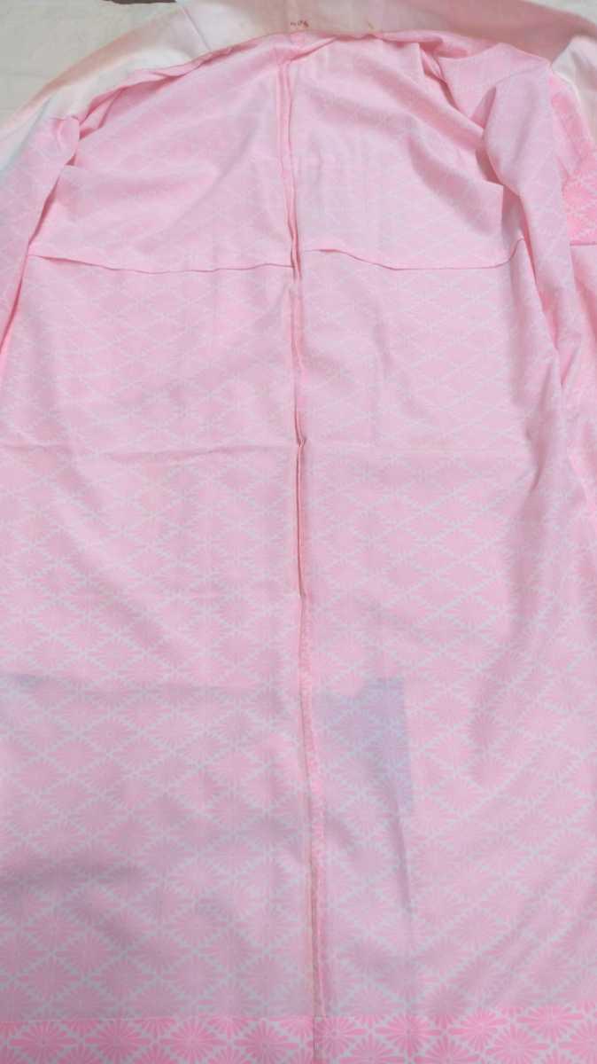 女性着物羽織 絹 紬 身丈118cm 袖丈49cm アンティーク 年代物 和服 振袖用長襦袢 単衣 長襦袢 即入札可 3_画像6