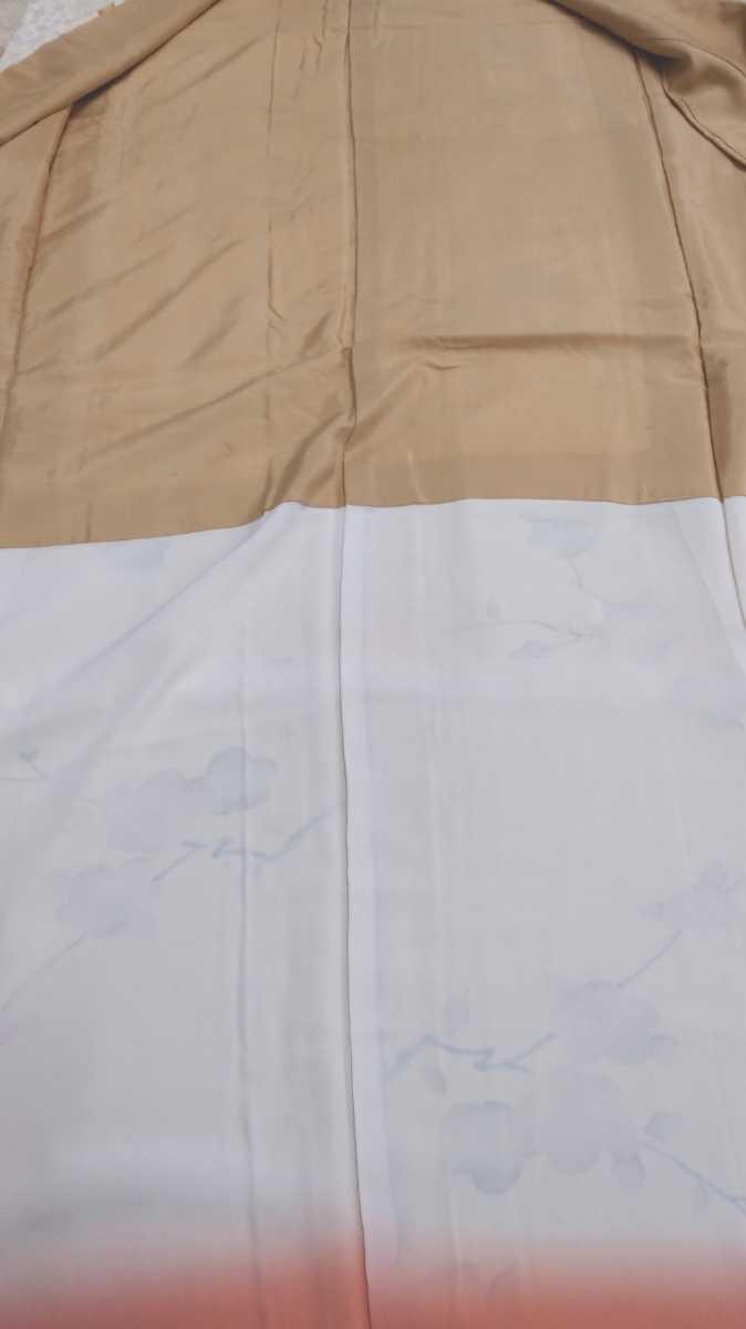 女性着物羽織 絹 紬 身丈149cm 袖丈52cm アンティーク 年代物 和服 振袖用長襦袢 長襦袢 アンティーク着物 即購入可能 レディース 8_画像4