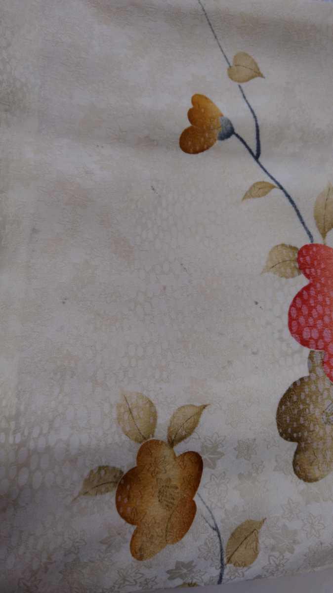女性着物羽織 絹 紬 身丈149cm 袖丈52cm アンティーク 年代物 和服 振袖用長襦袢 長襦袢 アンティーク着物 即購入可能 レディース 8_画像7
