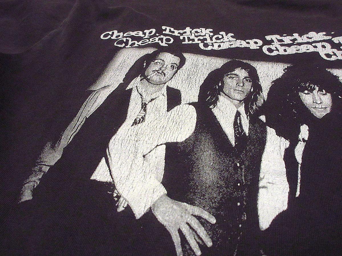ビンテージ90's●Cheap TrickコットンプリントTシャツ黒size M●210417s3-m-tsh-bnバンTロックバンド古着ブラックメンズUSAトップス半袖_画像7
