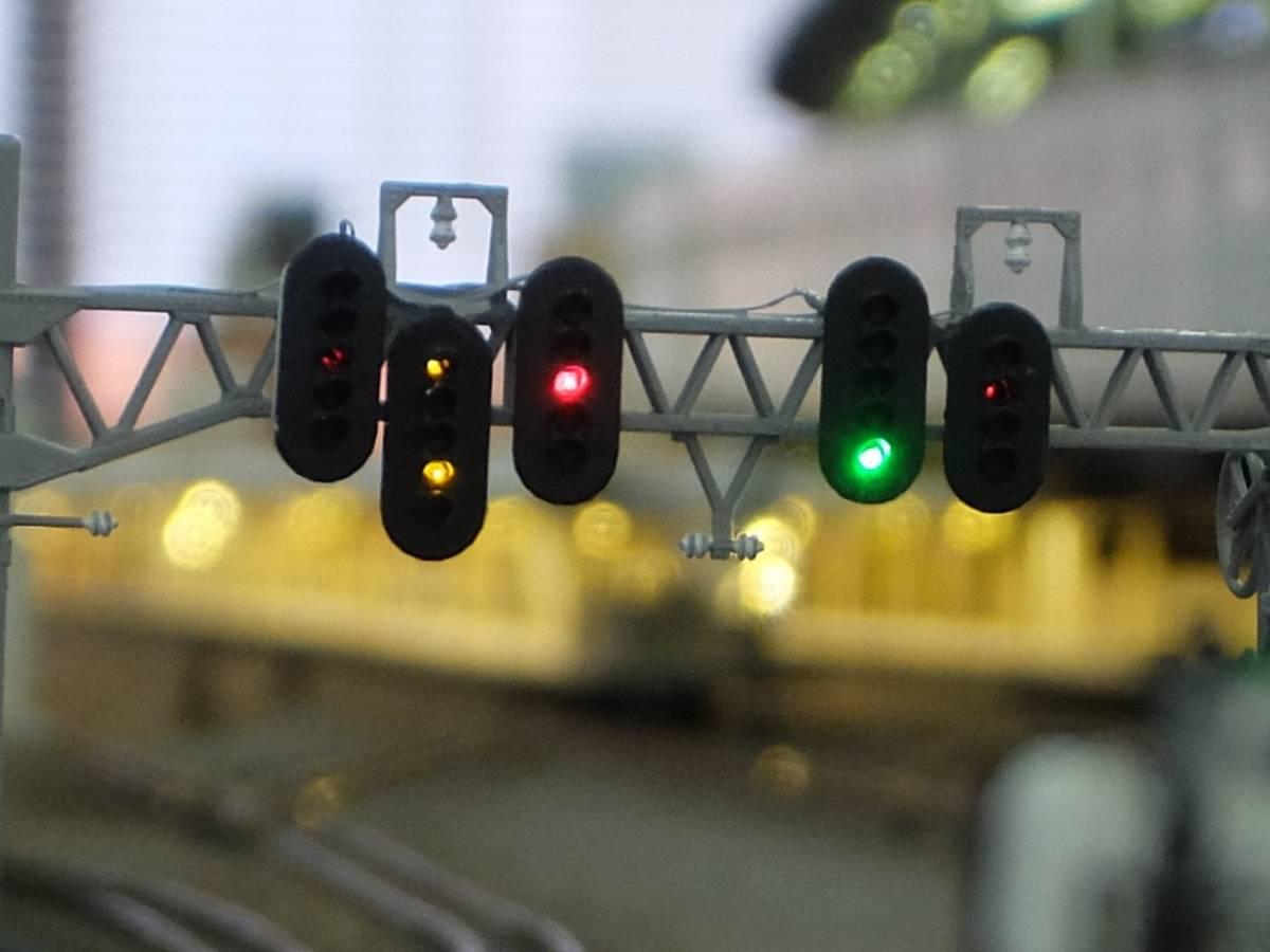 ST003 信号機 4灯式&5灯式 各2個入り ストラクチャー 3Dパーツ ①_架線柱は付属しません。
