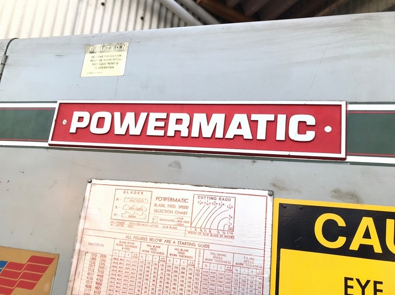【米軍放出品】POWERMATIC バンドソー 切断機 ブレード溶接機付き JET WG-12 電動工具 帯鋸盤 ☆BD26ACM-W_画像6