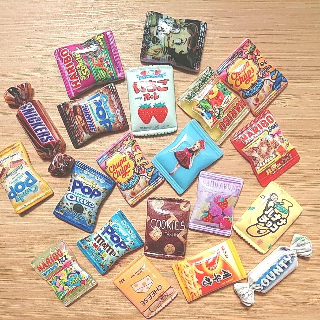 デコパーツ26E   いろいろパッケージ20個 お菓子 パッケージ