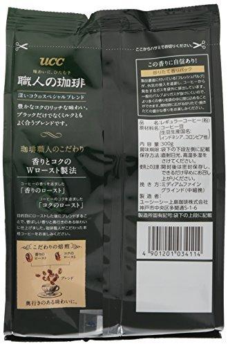 UCC 職人の珈琲 コーヒー 豆(粉) 深いコクのスペシャルブレンド 300g_画像3
