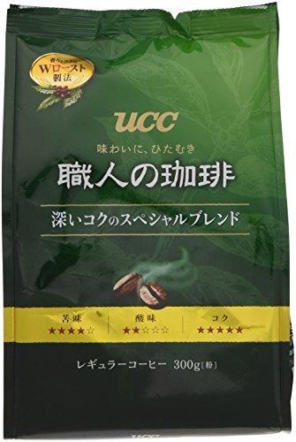 UCC 職人の珈琲 コーヒー 豆(粉) 深いコクのスペシャルブレンド 300g_画像1