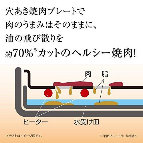 ●◆▽ダークブラウン 象印 ホットプレート 3.5枚タイプ やきやき 焼肉+たこ焼き+平面 ダークブラウン EA-GV35AM-_画像5