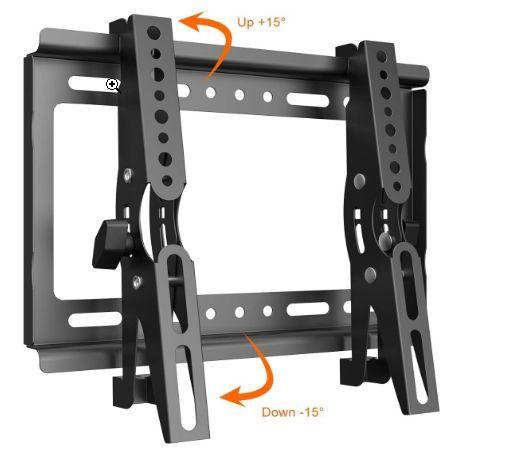 テレビ 壁掛け 金具 Himino 高品質14~40インチ モニター LCD LED液晶テレビ 上下調節式 VESA対応 最大250*210mm 耐荷重25kg(ネジ付属)_画像2