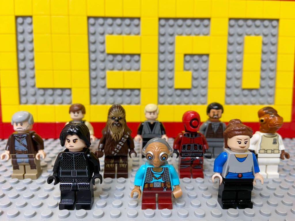 ☆スターウォーズ☆ レゴ ミニフィグ 大量10体 パドメ カイロ・レン ハンソロ チューバッカ など ( LEGO 人形_画像1