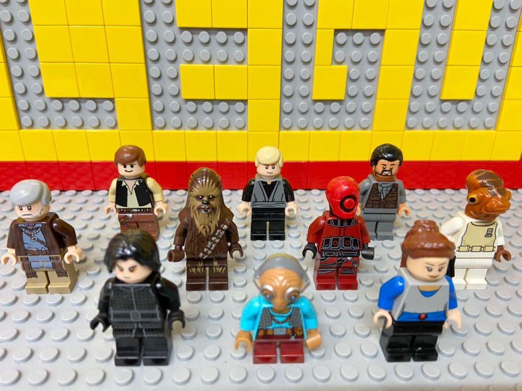 ☆スターウォーズ☆ レゴ ミニフィグ 大量10体 パドメ カイロ・レン ハンソロ チューバッカ など ( LEGO 人形_画像2