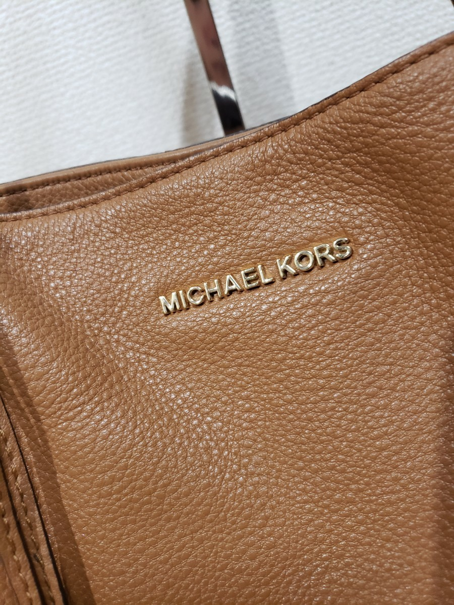 美品 MICHAEL KORS レザー大きめトートバッグ ショルダーバッグ