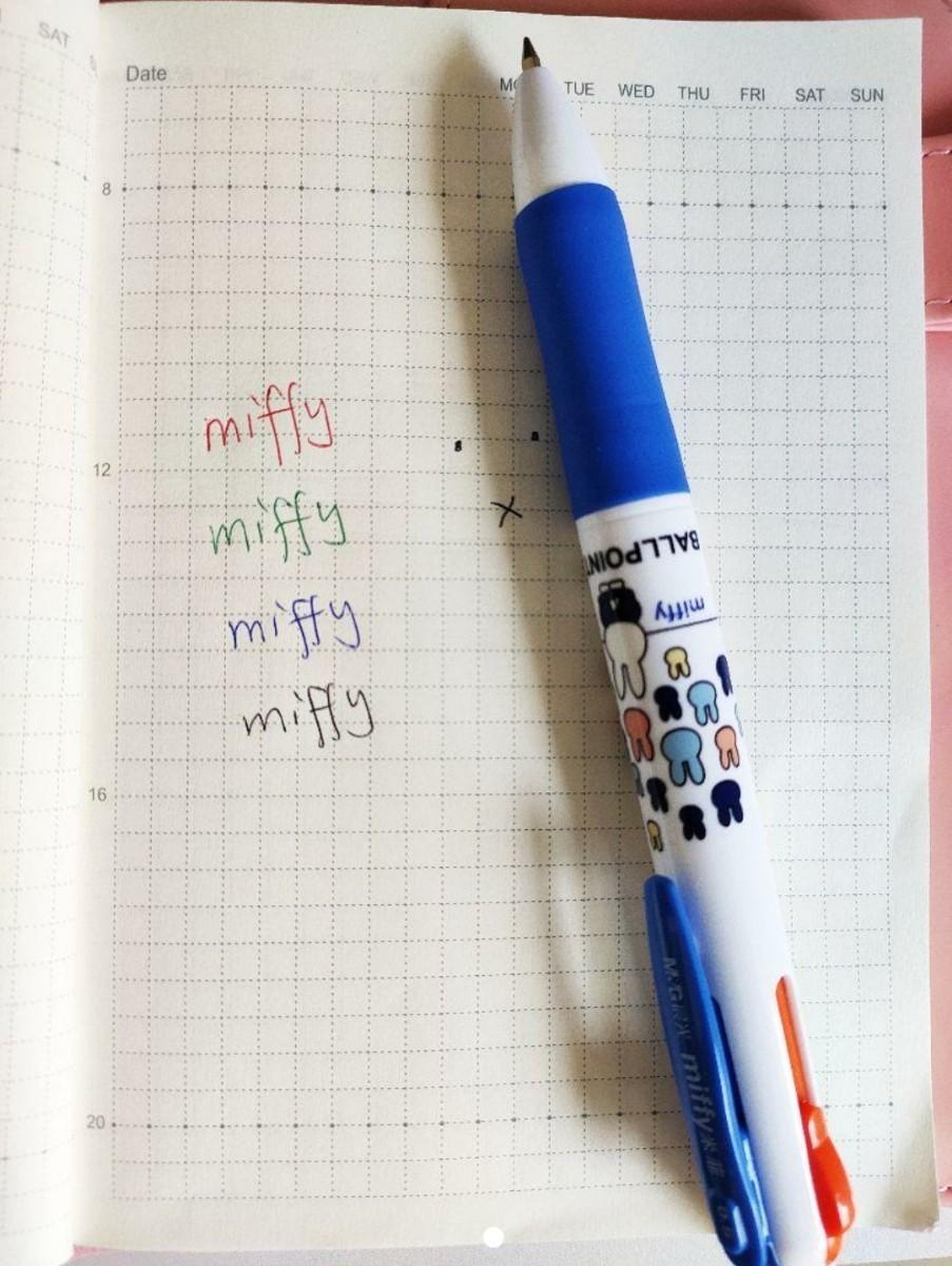 海外 ミッフィー 4色 ボールペン 3本セット