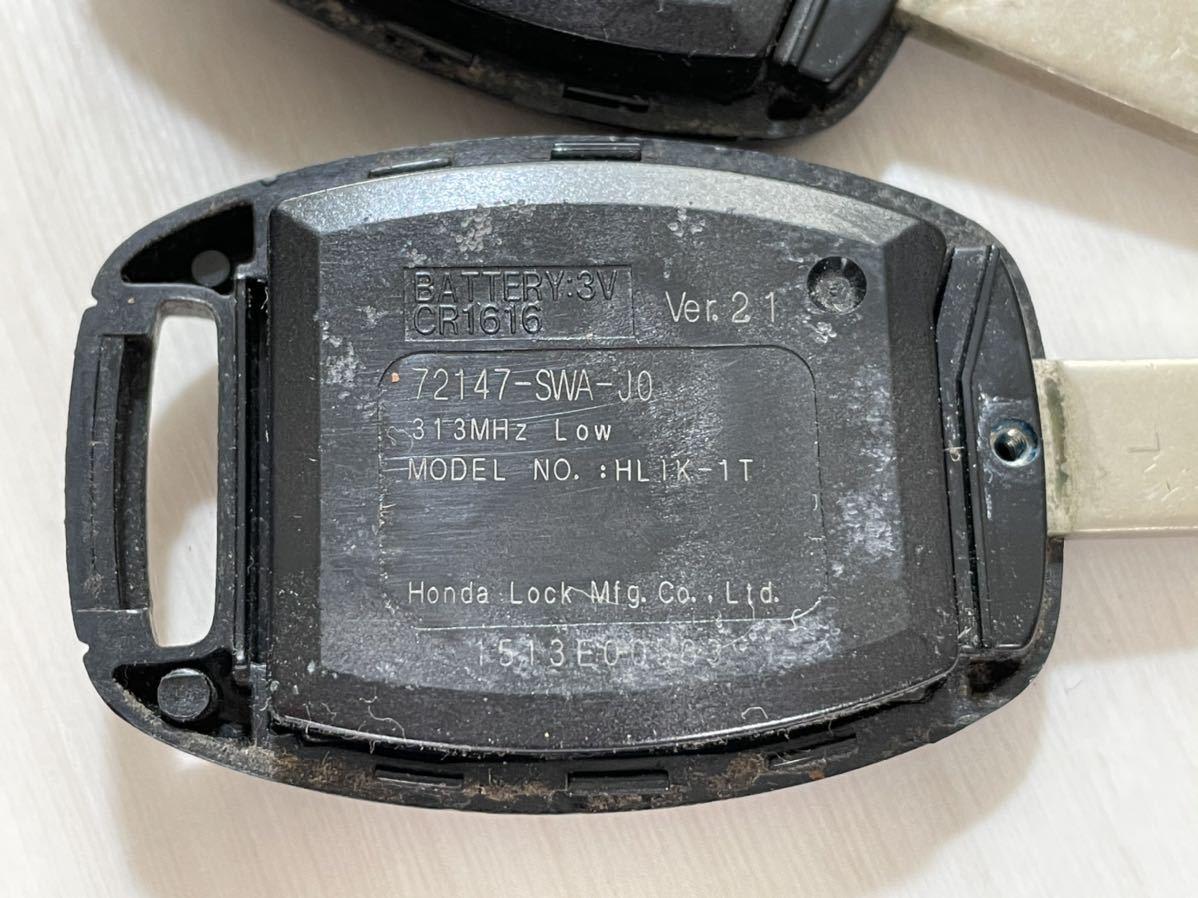 ホンダ フィット 純正 キーレス リモコン 2ボタン 2個セット L刻印 GE オデッセイ CR-V ストリーム GE6 RB1 RN6_画像7