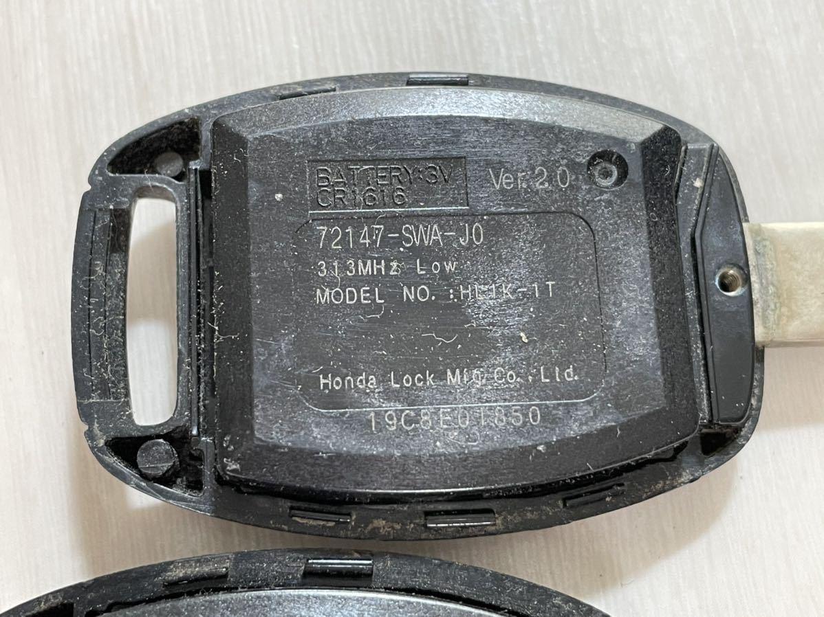ホンダ フィット 純正 キーレス リモコン 2ボタン 2個セット L刻印 GE オデッセイ CR-V ストリーム GE6 RB1 RN6_画像8