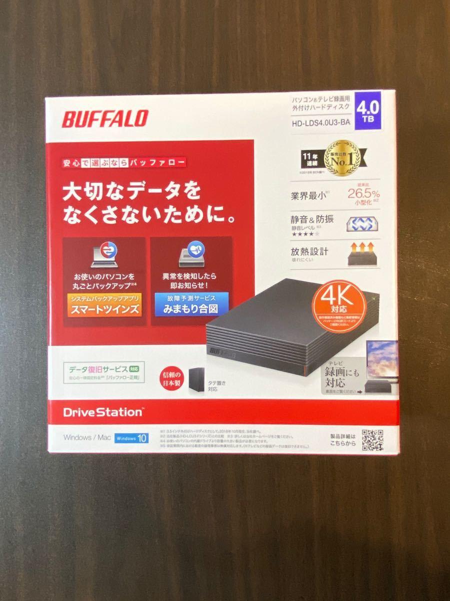 HD-LDS4.0U3-BA バッファロー 外付けハードディスク 4TB
