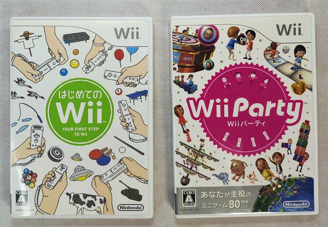 送料無料 即日発送 Nintendo ニンテンドー 任天堂 Wii Wiiパーティ はじめてのwii 動作確認済 2本セット
