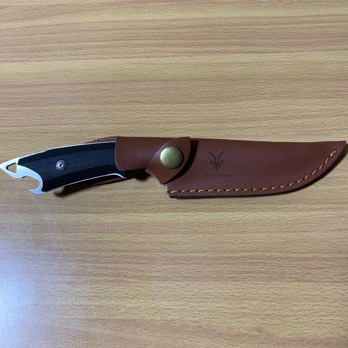 サバイバルナイフ シースー付き 新品未使用