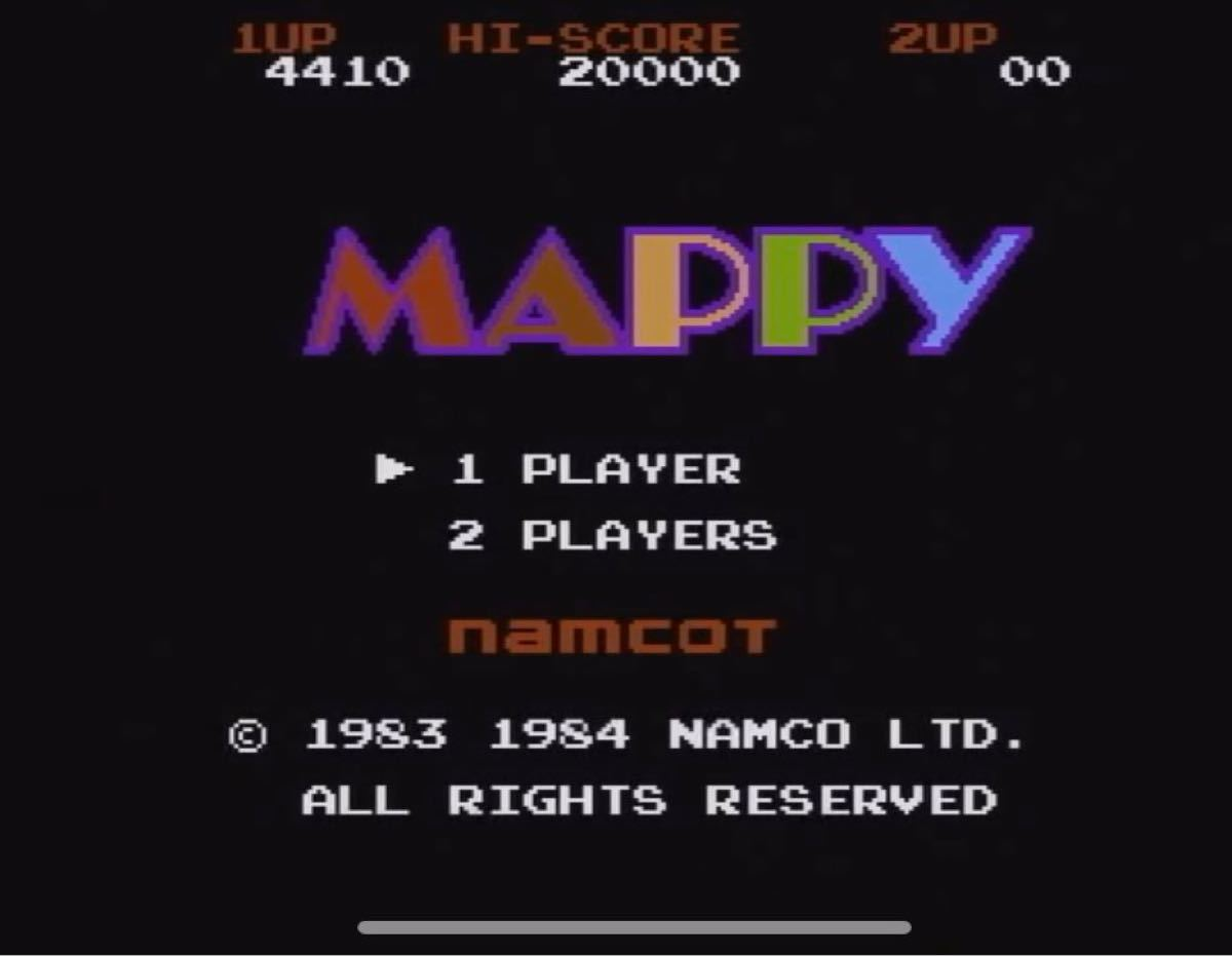 FCファミコンソフトマッピー(MAPPY) 中古