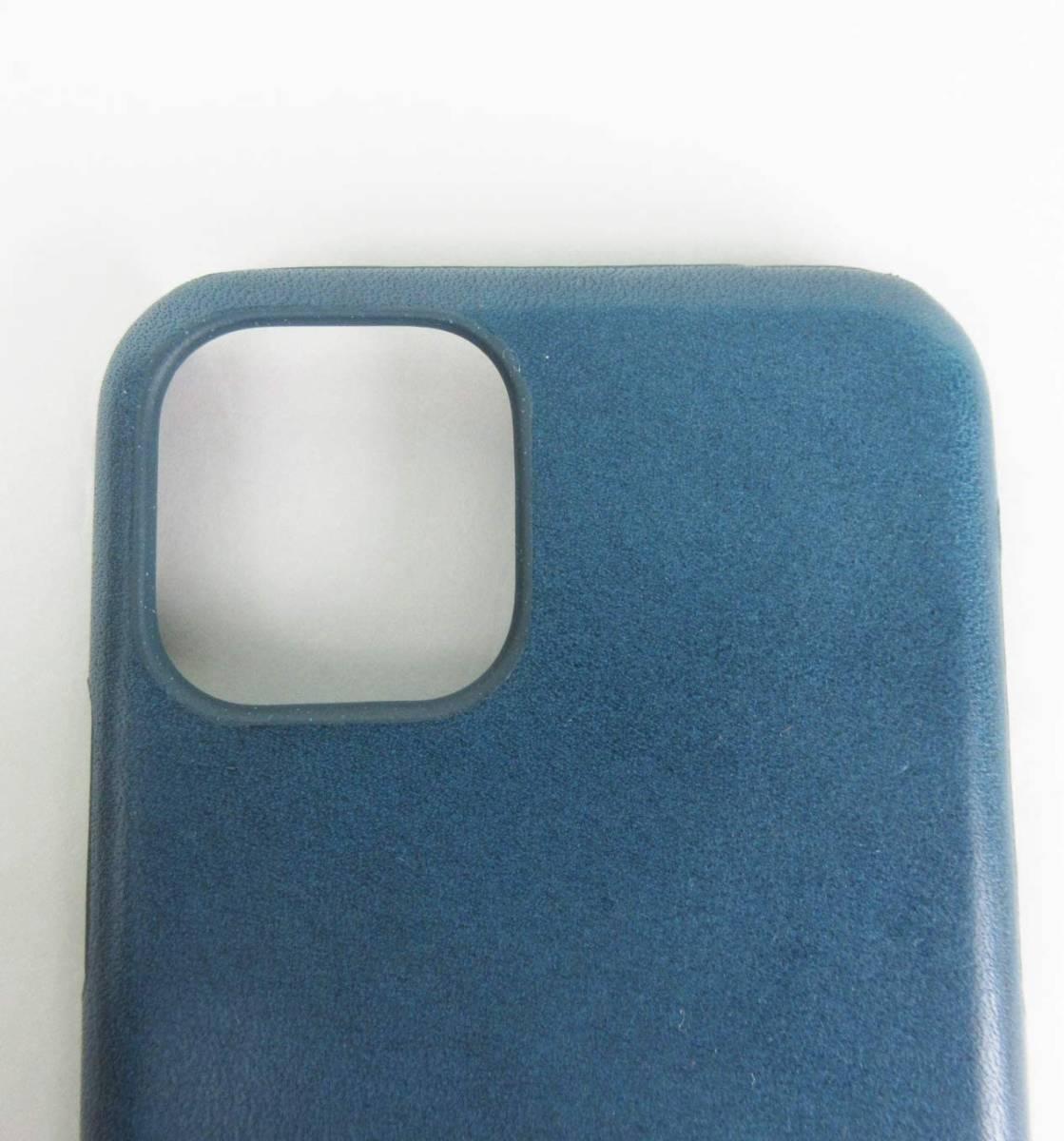 ●新品●栃木レザー iPhone 11 Pro ケース ネイビー 本革_画像2