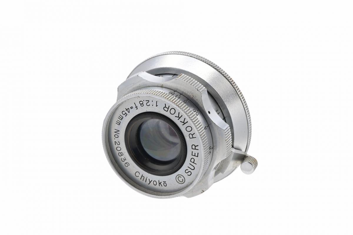 11000cmrk ◆ MINOLTA ミノルタ Chiyoko SUPER ROKKOR 45mm F2.8 単焦点 標準レンズ ライ