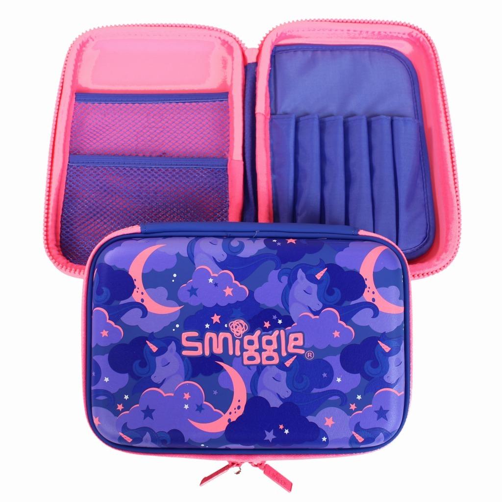 筆箱 ペンケース ハードジップ 新品未使用 smiggle スミグル ユニコーン / 色パープル Seek Hardtop Pencil Case(Purple)_画像1