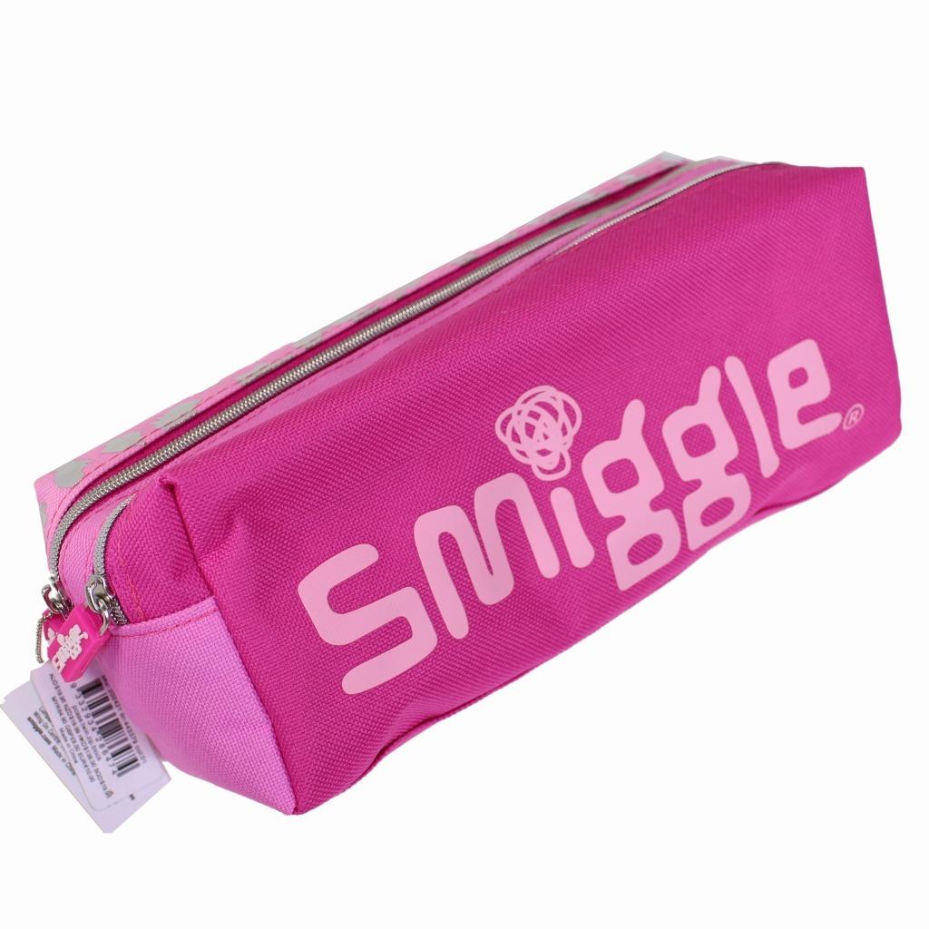 筆箱 ソフト ペンケース smiggle スミグル ピンク色 ヒョウ柄 Block Twin Zip Pencil Case(Pink ) おしゃれ_画像2