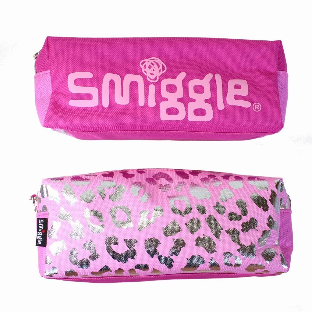 筆箱 ソフト ペンケース smiggle スミグル ピンク色 ヒョウ柄 Block Twin Zip Pencil Case(Pink ) おしゃれ_画像3
