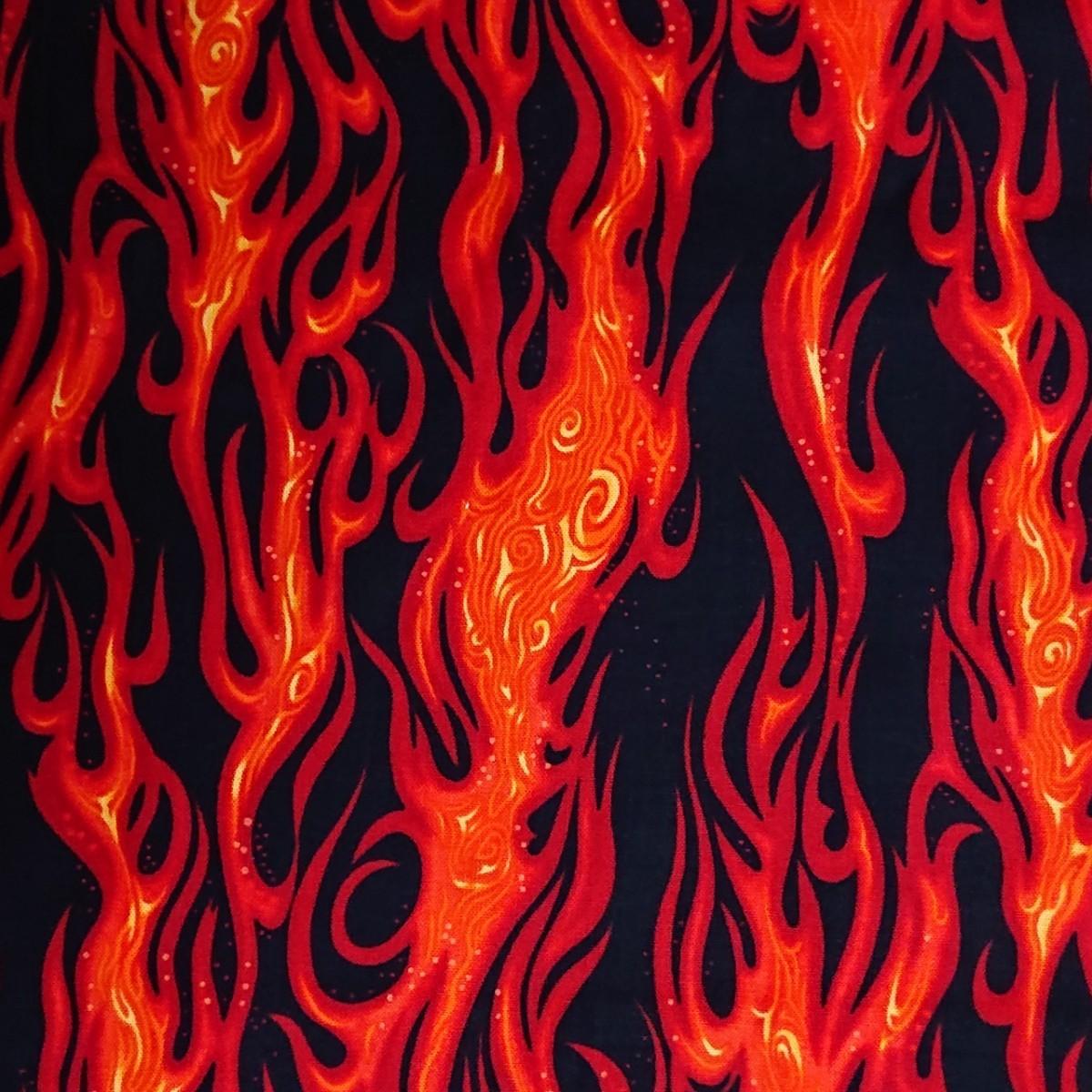 炎柄 ハギレ 布 生地 ハンドメイド 鬼滅の刃 呪術廻戦