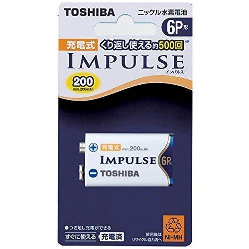TOSHIBA ニッケル水素電池 充電式IMPULSE 単6P形充電池(min.200mAh) 1本 6TNH22A_画像1
