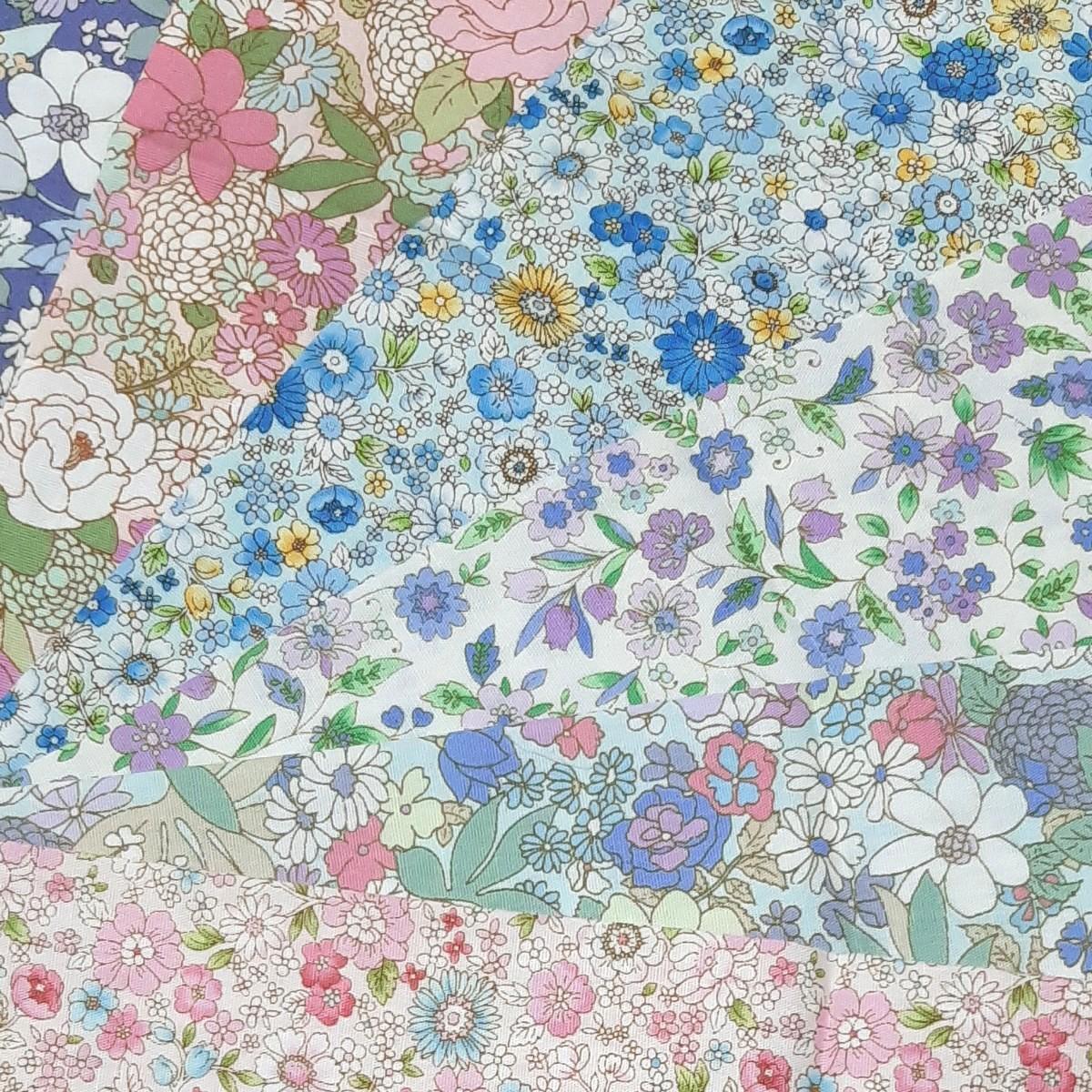 花柄カットクロス 生地 6種類セット パッチワーク ハンドメイド