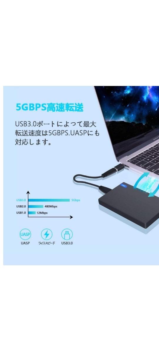 未使用に近いUSB3.0外付けポータブルHDD1TB(HDD HGST)