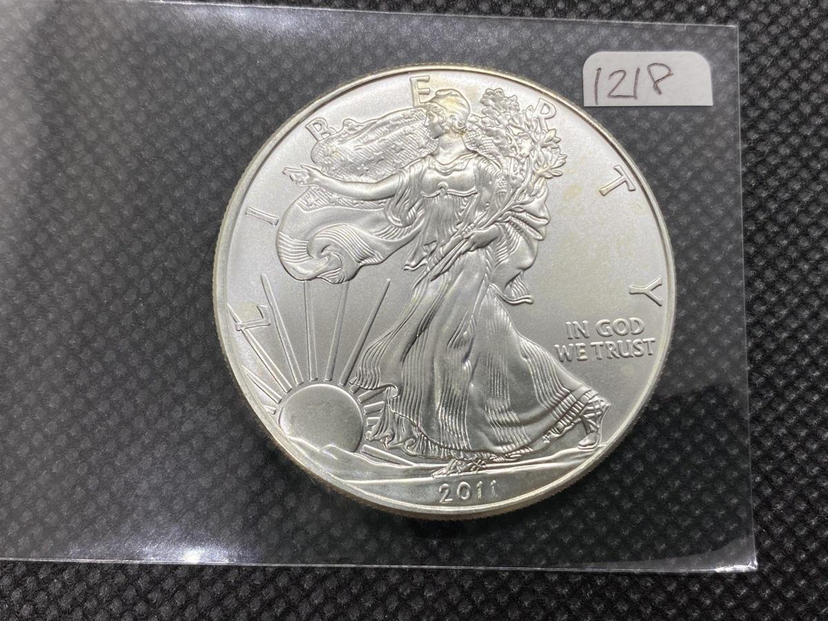 31.1 グラム 純銀 アメリカ イーグル ウオーキング リバティ 2011年 1ドル 銀貨 .999 銀