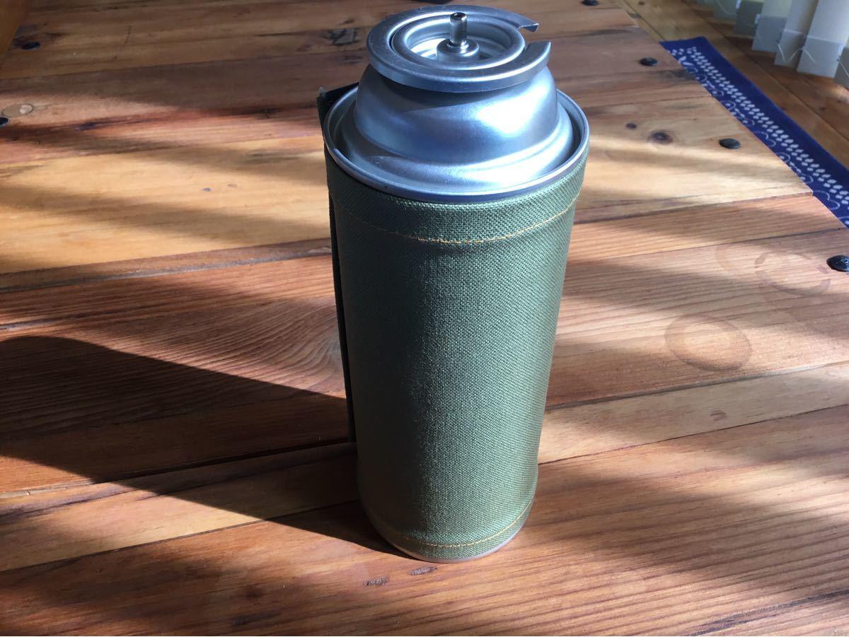 CB缶カバー(深いグリーン)春キャンプのアイテムに是非♪