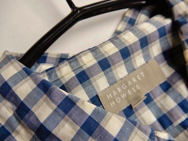マーガレットハウエル MARGARET HOWELL コットン100%大人可愛い使えるボタンダウンシャツ♪_画像4