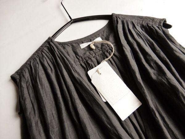 タグ付き未使用♪定価1.7万円 ヤラ YARRA コットン100%大人可愛いたっぷりギャザーマキシ丈ロング丈羽織りシャツワンピース♪_画像3