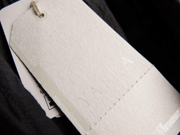タグ付き未使用♪定価1.7万円 ヤラ YARRA コットン100%大人可愛いたっぷりギャザーマキシ丈ロング丈羽織りシャツワンピース♪_画像5