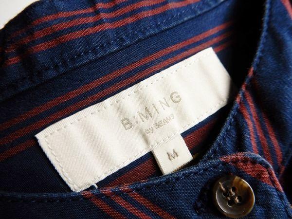 ビーミングバイビームス B:MING by BEAMS コットン100%大人可愛いゆったりオーバーサイズマキシ丈ロング丈バンドカラーシャツワンピース♪_画像4