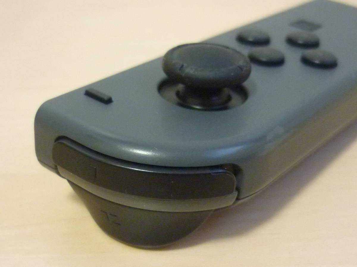 ◇■ 任天堂純正品 Nintendo Switch Joy-Con(L) グレー ストラップ付 動作確認済 ジョイコン コントローラー 中古 即決_画像4