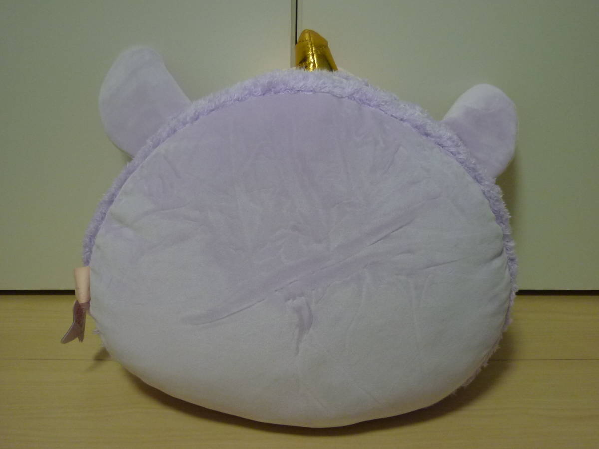 ♪もちふわ! KAWAII ユニコーンスイーツ BIG ぬいぐるみ 顔型マカロン パープル 約36cm 新品 即決_画像2