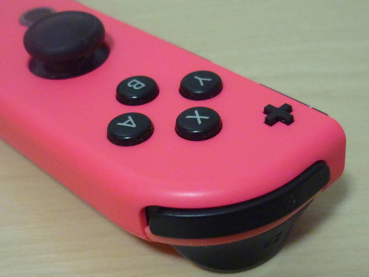◇■ 任天堂純正品 Nintendo Switch Joy-Con(R)ネオンピンク ストラップ付 動作確認済 ジョイコン 中古 即決_画像4