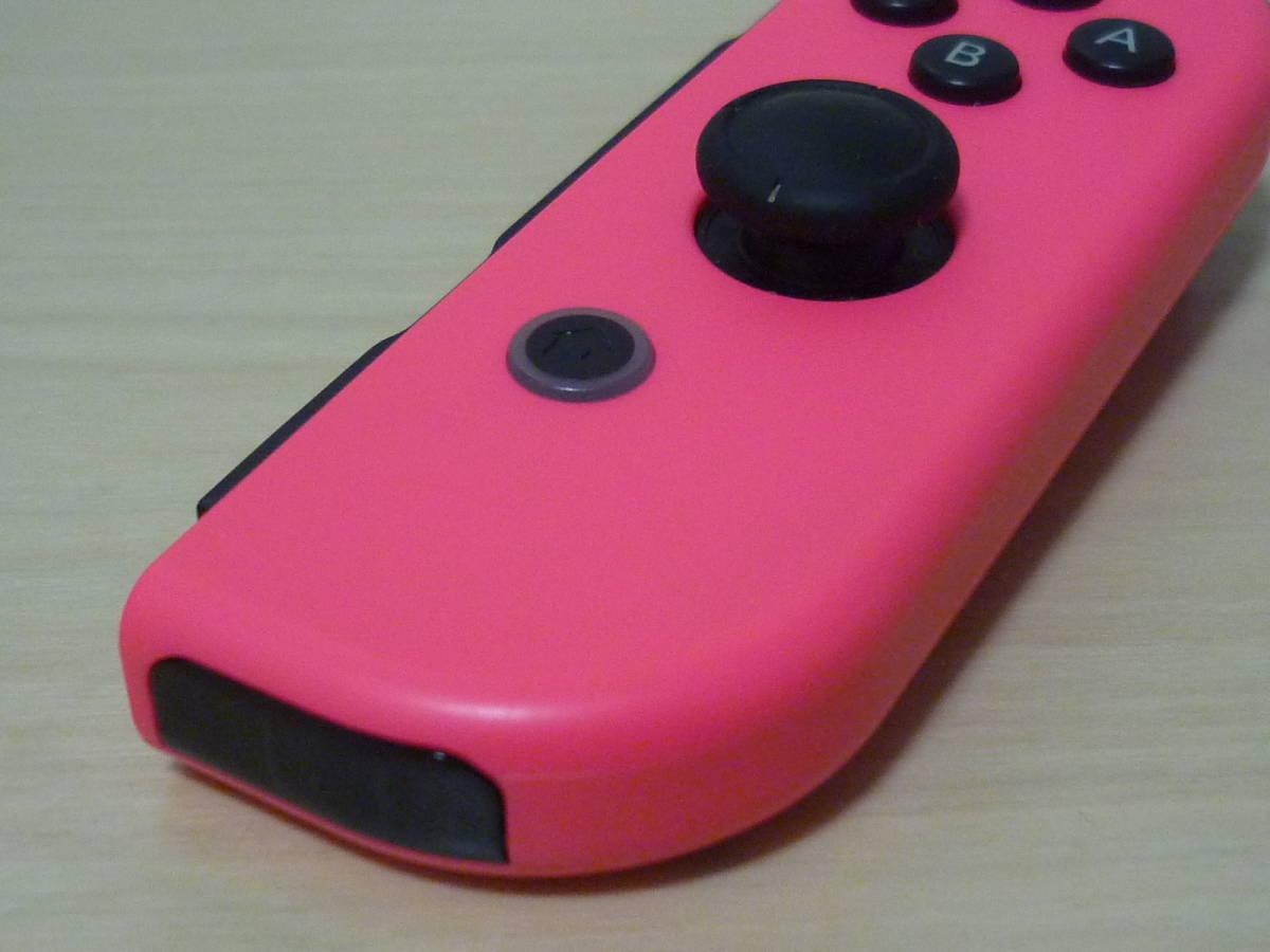 ◇■ 任天堂純正品 Nintendo Switch Joy-Con(R)ネオンピンク ストラップ付 動作確認済 ジョイコン 中古 即決_画像5