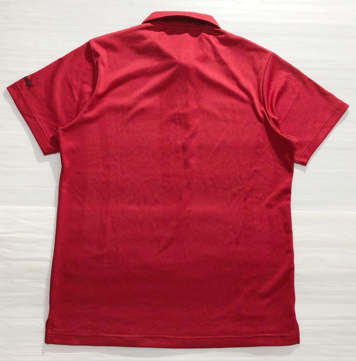 《le coq sportif GOLF ルコックゴルフ》ロゴ刺繍 半袖 ポロシャツ レッド_画像2