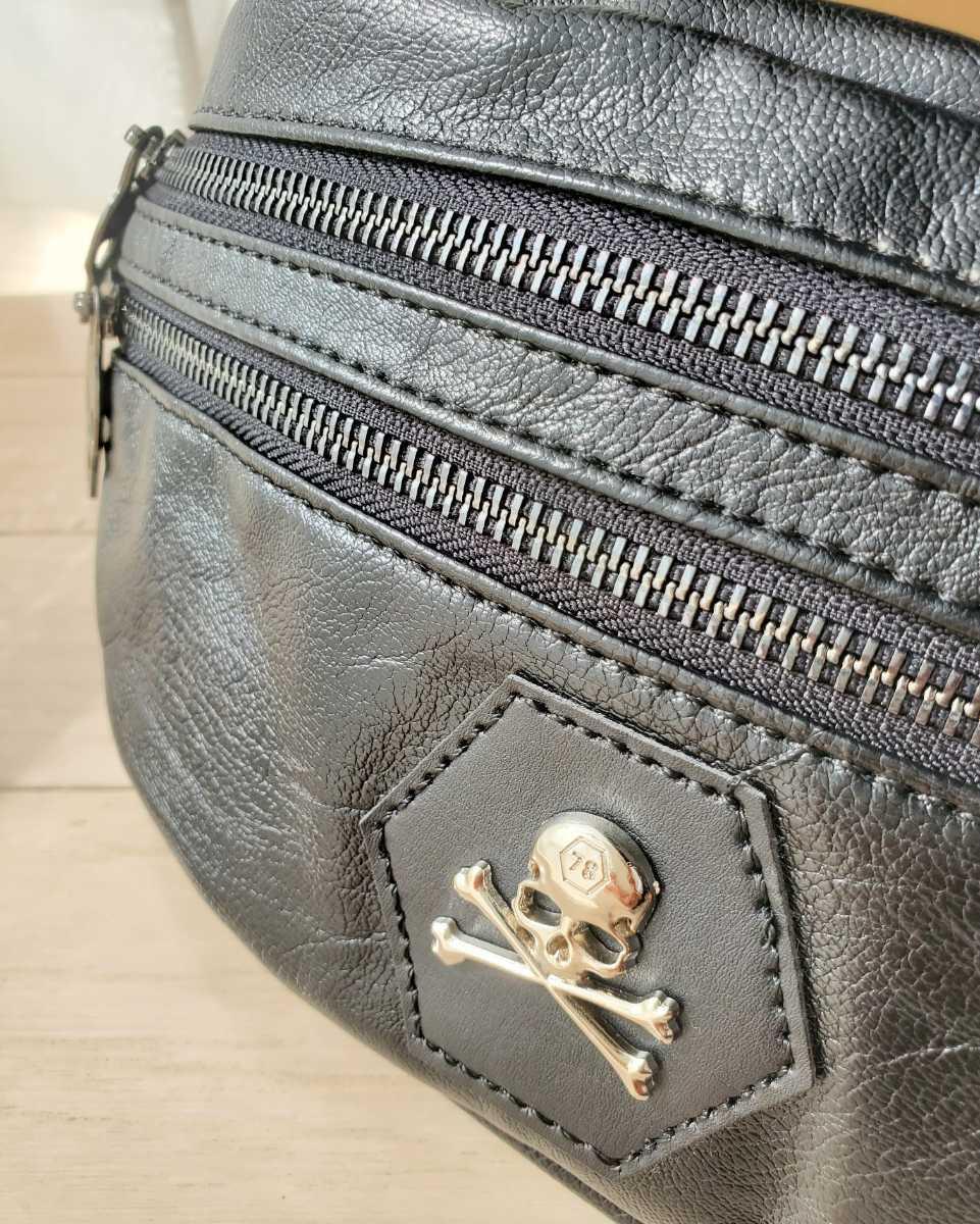 メンズ ウエストポーチ ボディバッグ 斜め掛け レザー 高品質 大容量 ウエストバッグ ブラック 多機能 高品質 ダブルファスナー