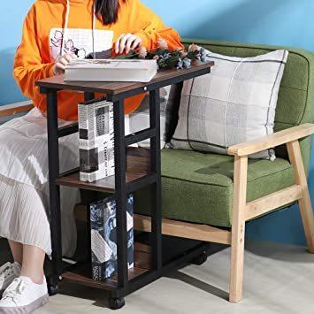 【新品未使用】ウォールナット幅60×奥行30×高さ70cmナイトテーブルソファサイドベッドサイドテーブルサイドテーブル_画像5
